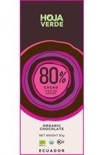 biologische cacao hoja verde 80% pure chocolade