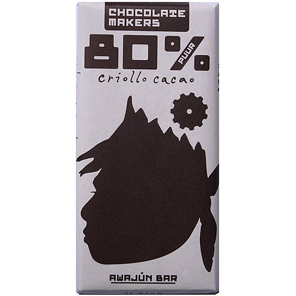 chocolatemakers 80% criollo awajun chocolade puur uit amsterdam noord