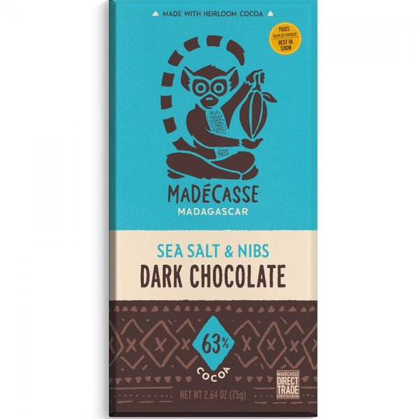 madecasse puur zeezout nibs chocoladereep direct trade fair for life fairtrade