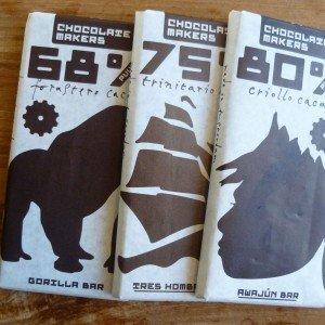 drie repen van chocolatemakers amsterdam
