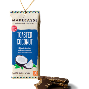 madecasse met pure chocolade en geroosterde kokos
