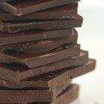 een plaatje met een stapeltje chocola