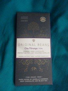 Original Beans Cru Virunga chocolade puur van vij het Nationale Park in Congo