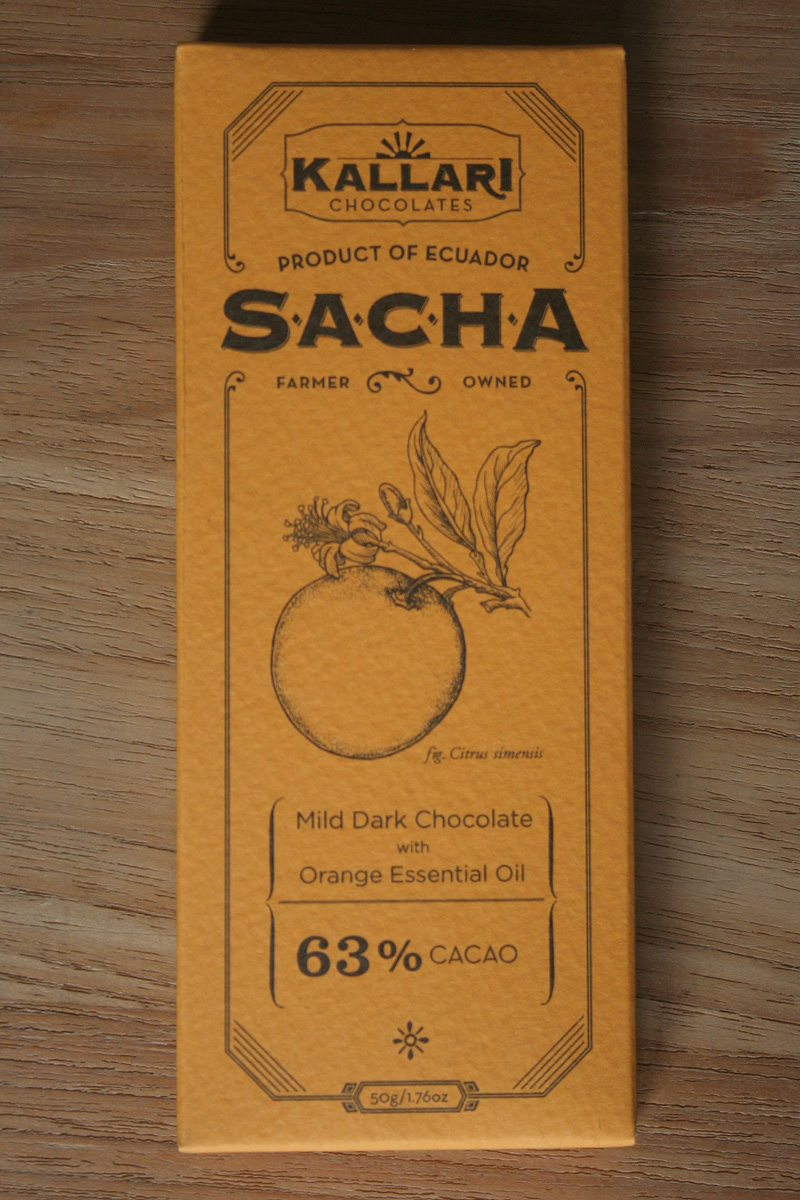 kallari sinaasappelolie donkere chocolade