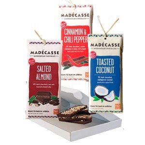 madecasse proefpakket voor liefhebbers van purechocolade met smaakjes