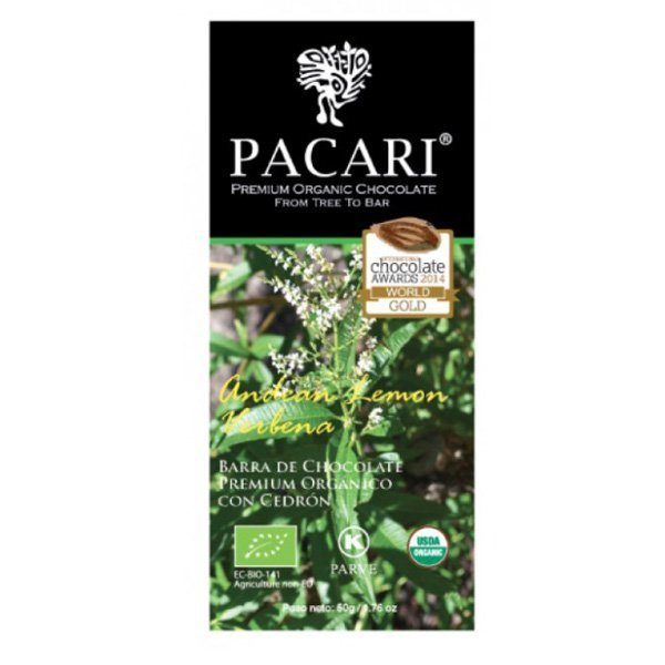 pacari organic chocolate lemon verbena verveine citrus fresh