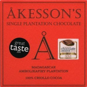 100% dark bar organic akessons criollo madagaskar
