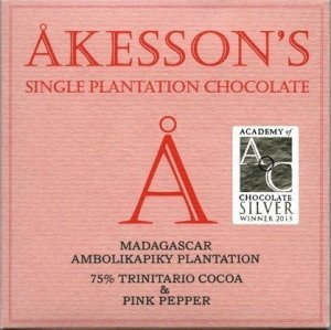 akesson's chocolade met roze peper