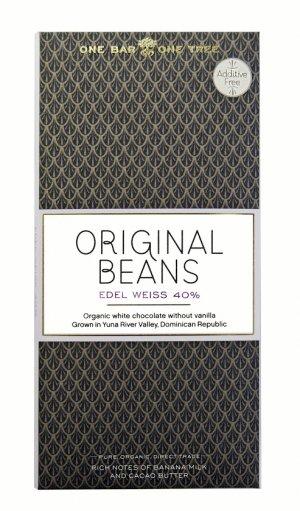 witte chocolade van original beans edel weiss