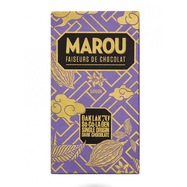 marou dak lak  single origin vietnam bean to bar 70 percent dark chocolate