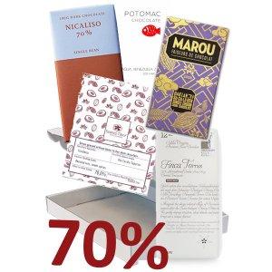 70% chocolade bijzondere kwaliteit van kleine bean to bar makers