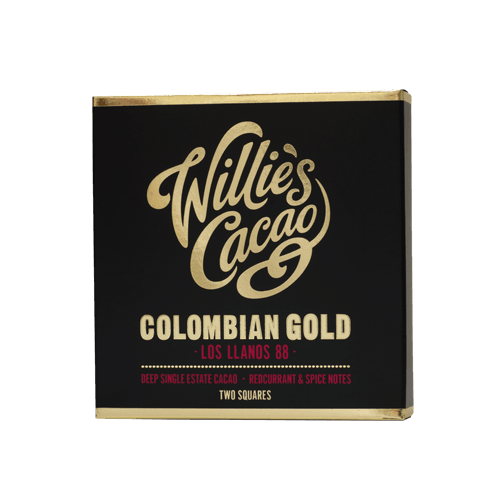willie's cacao bean to bar uit engeland. met cacao uit Colombia 88% extra puur