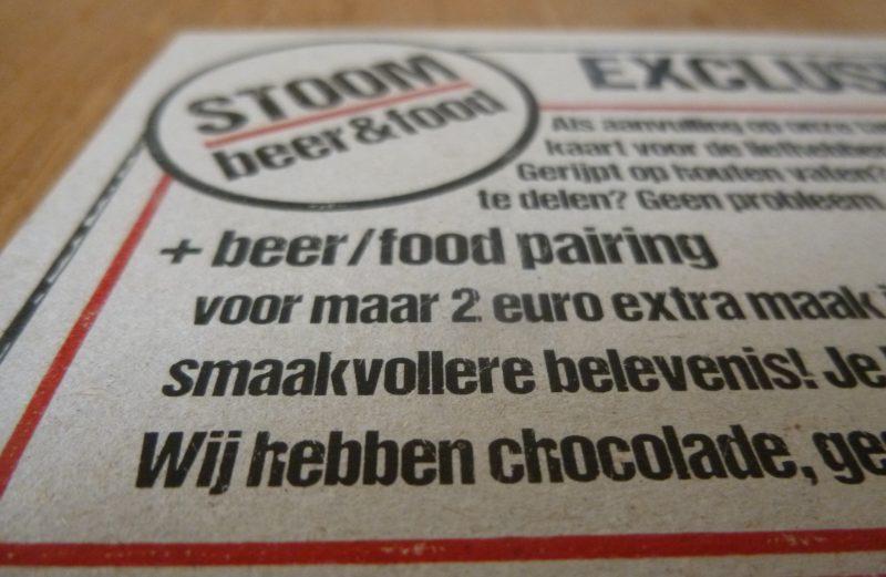 Bier + Chocolade = Stoom