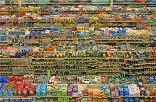 heel veel supermarkt producten