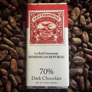 dominicaanse republiek chocolade letterpress