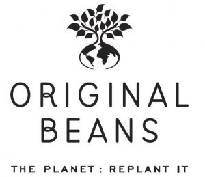 original beans logo the planet replant it