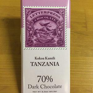 letterpress tanzania chocolade uit tanzanië