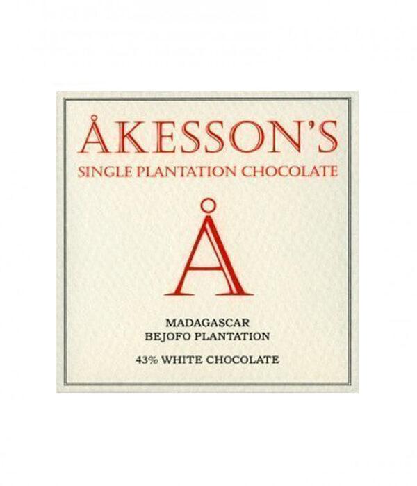 witte chocolade van akesson's uit madagaskar