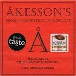akesson's chocolade logo met 100 procent pure madagaskar chcoolade