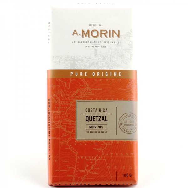 dark costa rica origin chocolate by a morin france