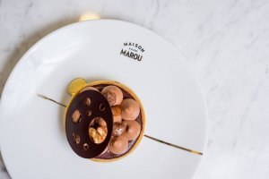marou origine chocolade taartje