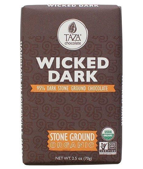 wicked dark chocoladereep taza bio donker