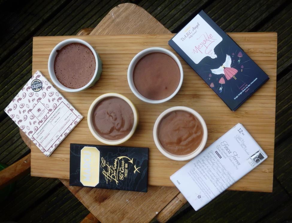 chocolademousse van origine chocolades van marou, tibor szanto, mesjokke en idillio