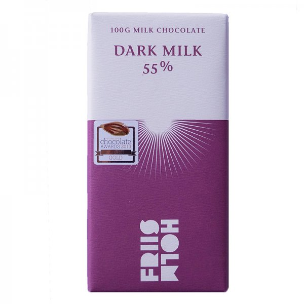 donkere melkchocolade van friis holm 55%