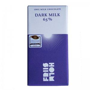 pure melkchocolade van friis holm 65%