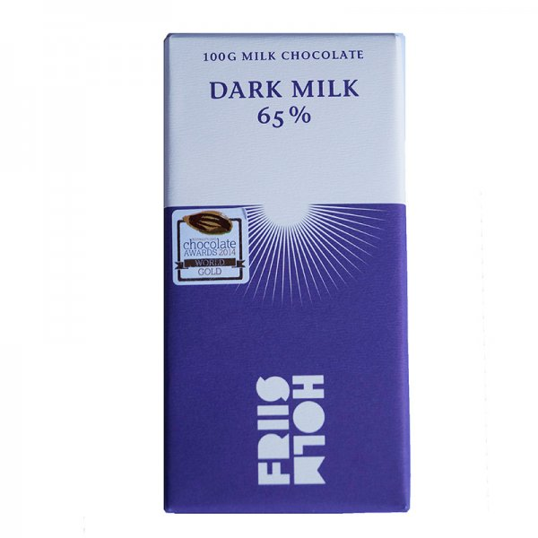 pure milk chocolate from friis holm 65%