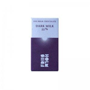 friis holm mini 25 gram chocolade dark milk