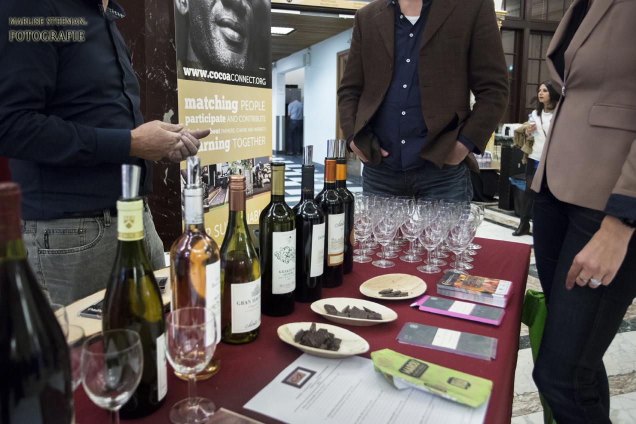 pairing van wijn en chocolade op origin chocolate event