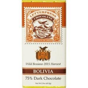 pure 75% chocolade letterpress bolivia wild