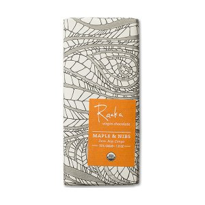 pure virgin raw chocolade met maple nibs raaka