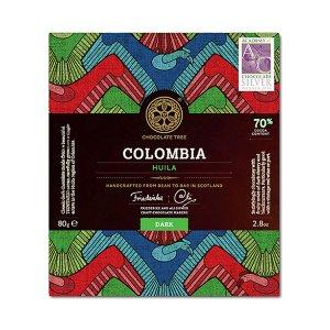 bean to bar lekkere chocolade en goed ook van chocolate tree uit schotland cacao uit colombia puur 70%