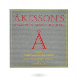 akesson's 100% chocolade met nibs brazilie