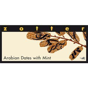 zotter chocolate filled with arabic dates and mint