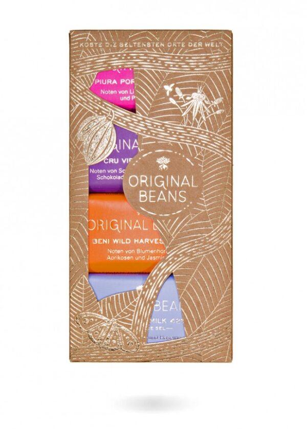 original beans cadeaupakket een proefpakket met kleine chocoladerepen een mooi cadeau