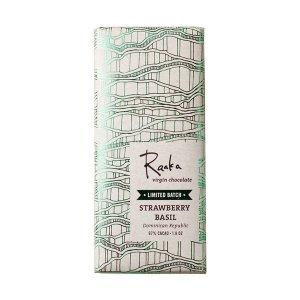 raaka aardbei basilicum chocolade puur raw bio