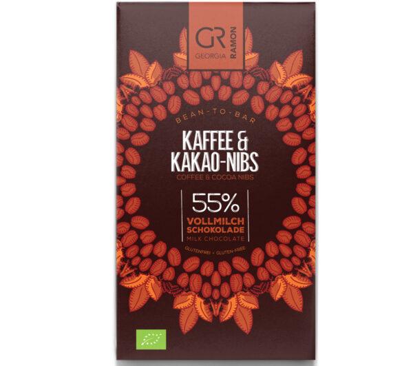 georgia ramon koffie nibs arabica chocolade mlek