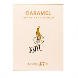 biologische melkchocolade caramel zeezout naive beantobar