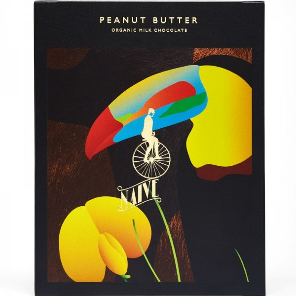 naive peanut butter milkchocolate with peanutes