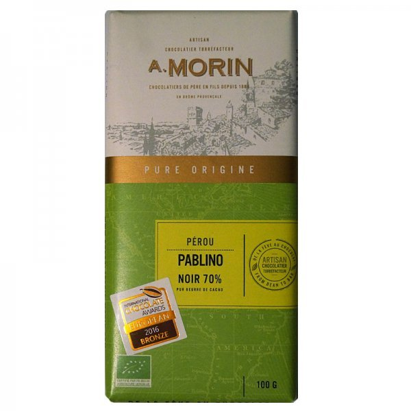 morin pablino peru 70 organic dark chocolate bar