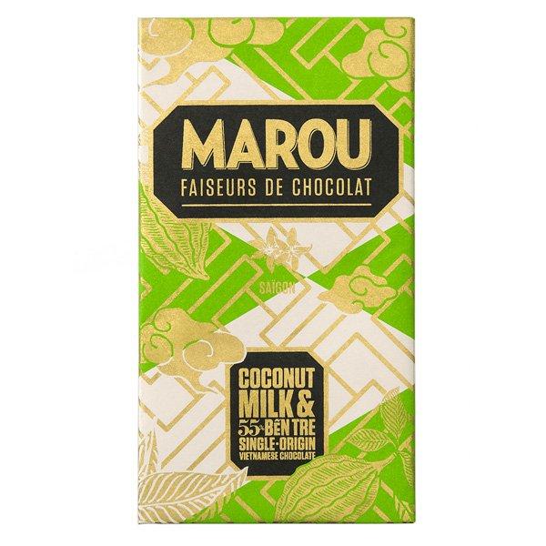 marou kokosmelk kokos melkvrije chocolade met kokosmelk vietnam 55 ben tre bean to bar