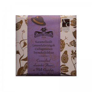 rozsavolgyi milk chocolate with lavender flowers and star anise