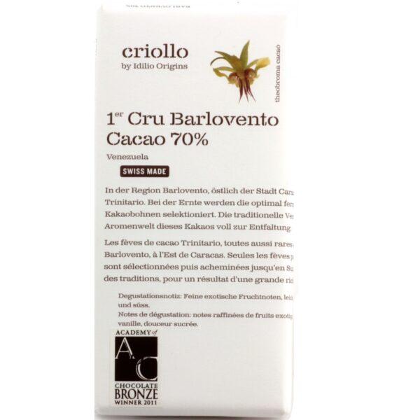 idilio barlovento venezuela criollo origins premier cru