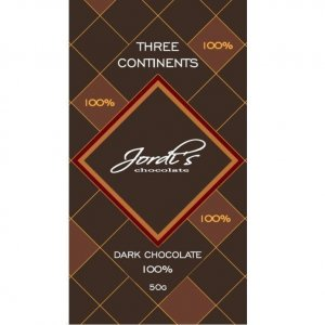 100% 100 procent pure chocolade van jordi's cacao blend chocolade