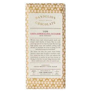 dandelion costa esmeraldas ecuador bean to bar san francisco