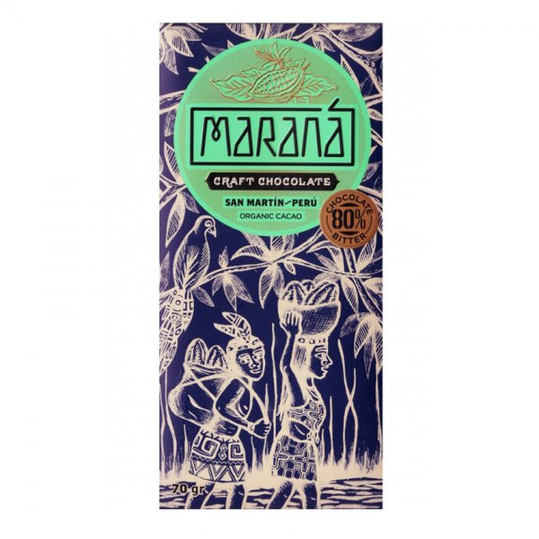 marana 80% peru san martin craft chocolate origin peru donker puur bitter zwart