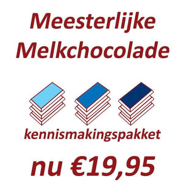 meesterlijke melkchocolade proefpakket melkchocolade bijzonder bean to bar craft chocolade donker proeven bestellen kopen